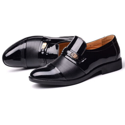 Men/'s Business Wedding Shoes Smart Loafers Formal Casual Leather Shoes Size 6-13