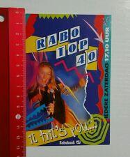 Aufkleber/Sticker: Rabobank Rabo Top 40 (080616148)