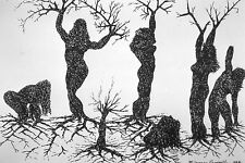 Female Woman trees DAPHNE myth series print by WHO'S WHO IN AMERICAN ART artist