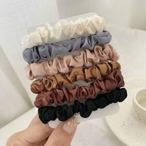 6PC-Girls-Elastic-Hair-Bands-Silk-Satin-Scrunchie-Hair-Ties-Ponytail-Holder-Rope