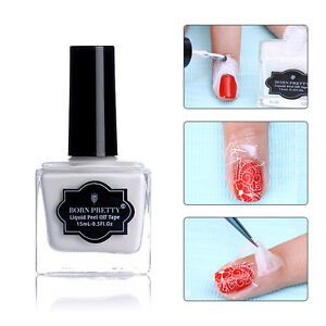Born-Pretty-15ml-Blanco-Cinta-amp-despegar-Capa-Base-Latex-Liquido-Nail-Art