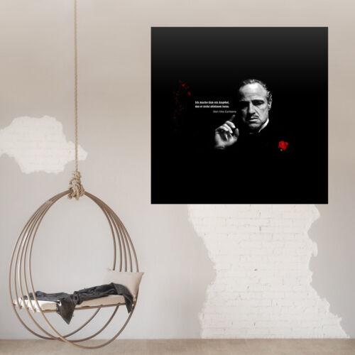 Poster Wanddekoration Grafik The Godfather der Pate Zitat aus dem Film Nr 5665