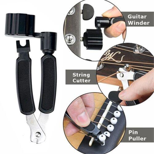 3 in 1 Guitar String Winder String Cutter Bridge Pin Puller Repair Tool J9C1