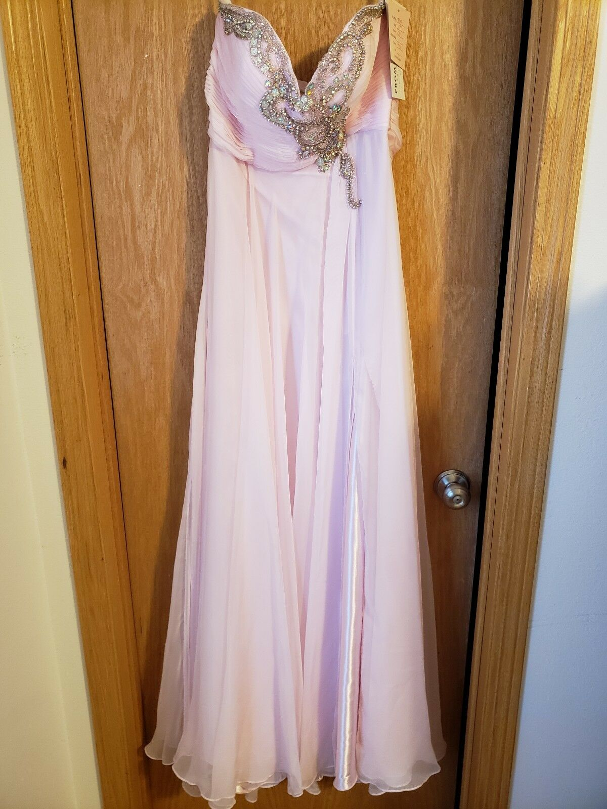 NWT Blush Prom size 12 Crystal Pink style 9549