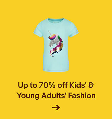 Up to 70% off Kids' & Young Adults' Fashion