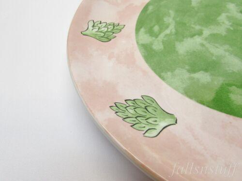 "Details about  /Tutti Fruitti Pink /& Green Artichoke Plate 8/"" Essex Collection Bois d Arc Frutti"