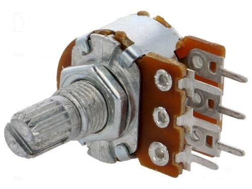 Potenziometro 500K ohm LOGARITMICO Assiale Doppio Metallico A500K