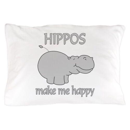 "20/""x30/"" CafePress Hippo Happy Standard Size Pillow Case 1341714318"