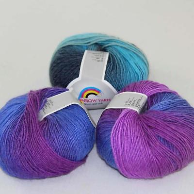 C Sale 6Balls X 50g Pure Cotton Chunky Worsted Knitwear Woolen Knitting Yarn 31