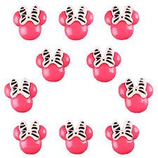 10pcs Resin Zebra Pink Minnie Flatback Scrapbooking Hair Bow Center Craft