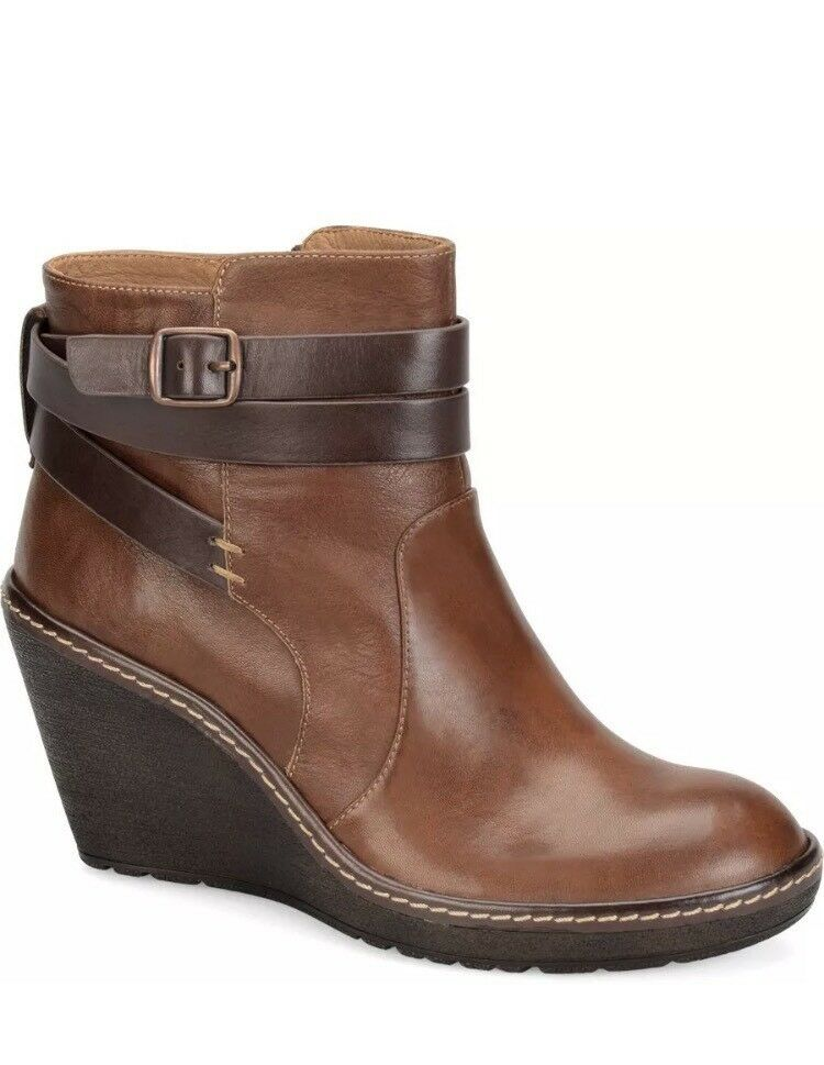 Sofft Women's Women's Women's Caralee Ankle Boots Tobacco Wedge Heel Size 7.5M NEW e5f980