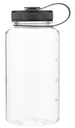 CLEAR Everyday Tritan 32 oz Wide Mouth Water Bottle BPA FREE 1005 ml Grip Gulp