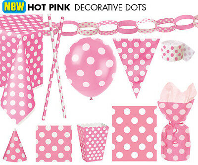 TABLEWARE - PAPER STRAWS - NAPKINS - BAGS - BANNERS - DECORATIVE DOTS & SPOTS