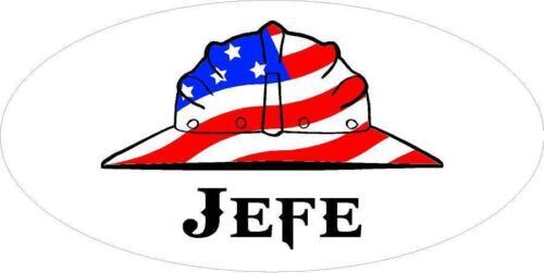 3 Jefe US Flag Hard Hat Welder Oilfield Toolbox Helmet Sticker H268