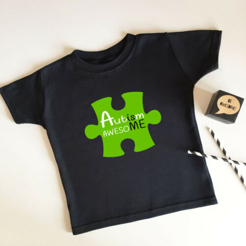 Autism is awesoME BIG Jigsaw T Shirt Supersoft Sensory