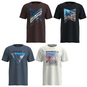 Jack /& Jones Core T-Shirt Chest Logo Print Crew Neck Short Sleeve Mens Tee