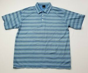 Nike-Golf-Men-039-s-Dri-Fit-Blue-Striped-Short-Sleeve-Polo-Shirt-Size-XL-X-Large