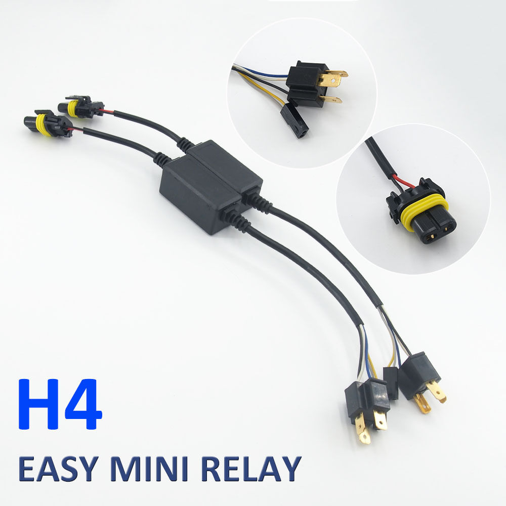 easy relay harness for h4 h13 9007 hi lo bi xenon hid bulbs wiring easy relay harness for h4 h13 9007 hi lo bi xenon hid bulbs wiring controller
