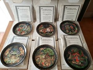 6-Pc-Russian-Legends-Bradford-Exchange-Collector-Plates-2-3-4-5-7-amp-8-IN-BOX