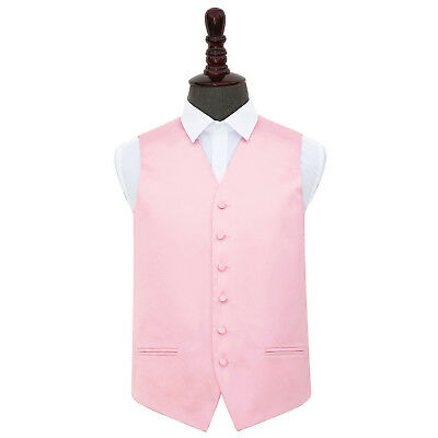 "DQT Premium Satin Plain Solid Men's / Boy's Wedding Waistcoat Vest Size 22""-50"""