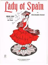 LADY OF SPAIN ORGAN SOLO 1931AUTOGRAPHED  DON BAKER VINTAGE SHEET MUSIC