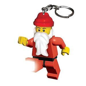 Lego-Porte-Cles-Torche-Pere-Noel-Pere-Noel-Neuf-Lampe-de-Poche
