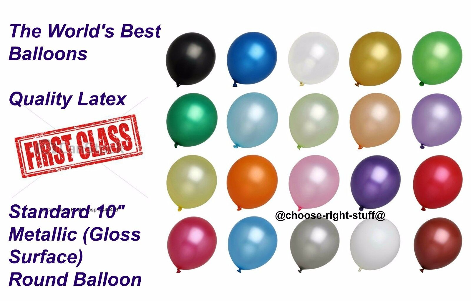 100 Metallic Pearl Shinning Helium Air Quality Party Balloons 10  Inch baloons