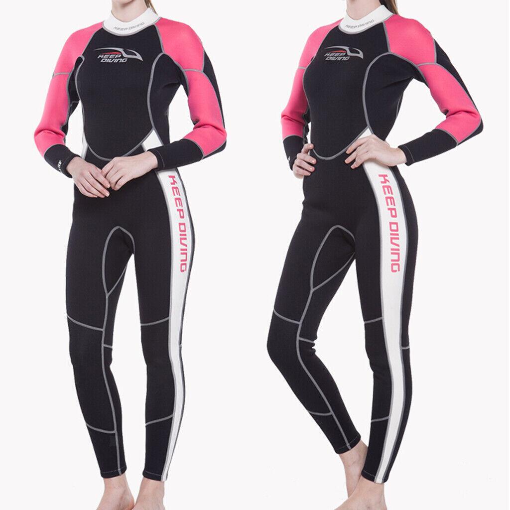 3 mm Neopreno Mujer Buceo Surf Traje de Cuerpo Completo Elástico Cálido y Cómodo