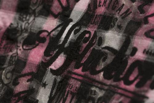 AFFLICTION Damen Hemd Addicted Love LS Woven Pink//Schwarz