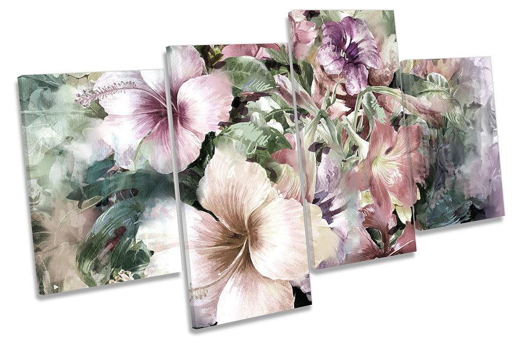 Blossom Fiori Floreale Bianco Multi a muro opera d'arte art print