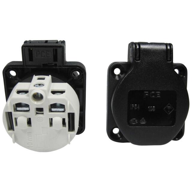 Anbau-steckdose Ip54 schwarz PCE 601.450.01 | eBay