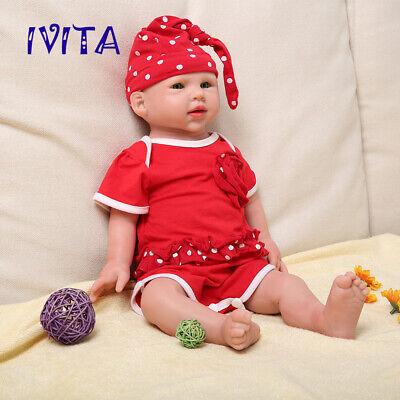 Xmas Gift 18.5/'/' Soft Silicone Reborn Dolls Sleeping Big Newborn Baby Girl Toys
