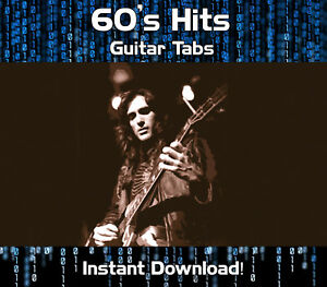 Details about 60's ROCK GUITAR HITS TAB TABLATURE DOWNLOAD SOFTWARE TUITION