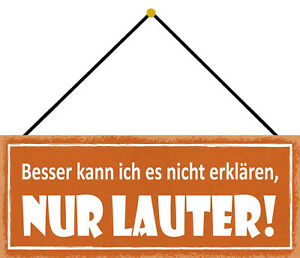 Besser Can I It Not Declare Shield with Cord Tin Sign 10 X 27 CM K0763-K