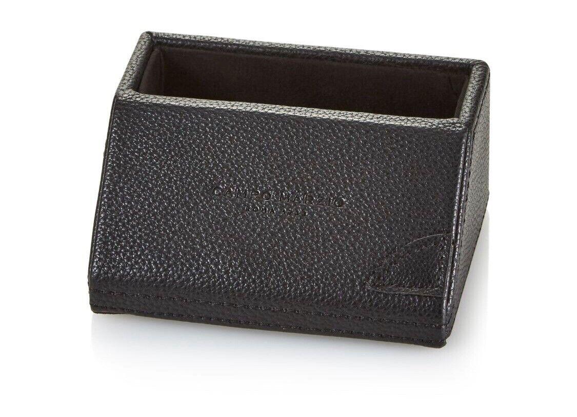 Campo Marzio Pebbled Faux Leather Desk business Card Holder 3 colors