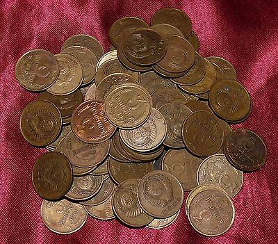 Wholesale Lot of 15 Soviet Union Russian 3 Kopeks 3//100 Ruble Coins