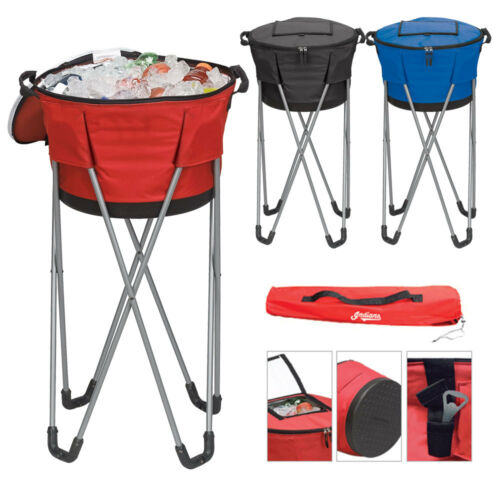 A7218 48-Cans Party Beach Picnic Collapsible Barrel With Stand Cooler