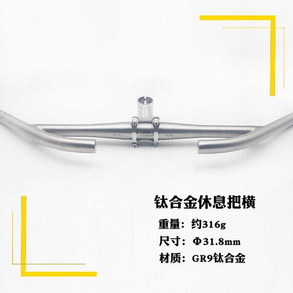 31.8 25.4mm Aleación de Titanio Bicicleta Bici Mango Bar Manillar Resto Bar verdeical