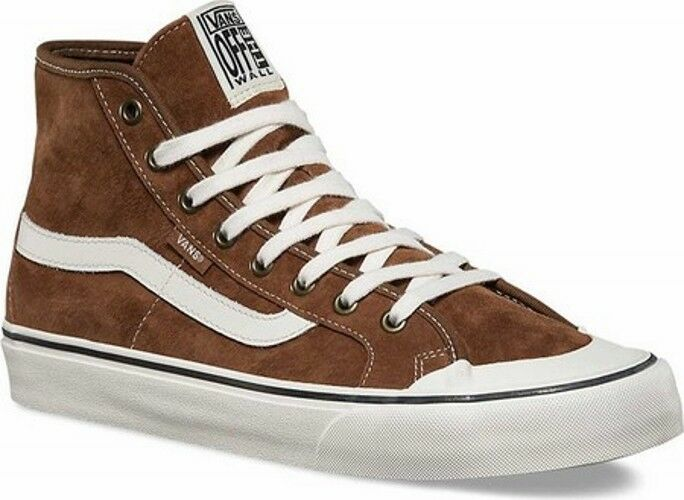 191 BROWN VANS Uomo BROWN 191 WHITE HIGH HI TOPS CANVAS SKATEBOARDING SNEAKERS SHOES 7 a427b6