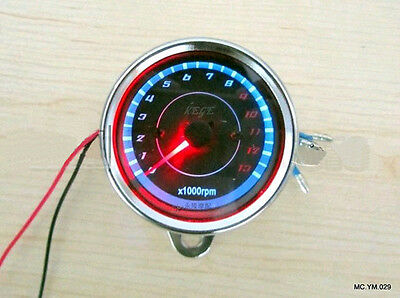 LED light Universal 13000 RPM Scooter Analog Tachometer for Motorcycle Two Color