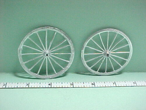 - 1//12th Scale Metal Unpainted Reynolds #WY Dollhouse Miniature  Wheels 2