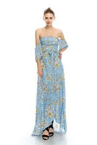 Sky-Blue-Floral-Print-Romantic-Off-Shoulder-Maxi-Dress-S-M-or-L