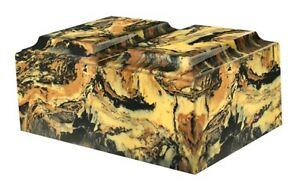 Details about XL Companion Funeral Cremation Urn For Ashes Cultured Marble  Black/Gold Tuscany