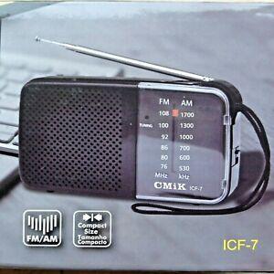 Radio AM/FM Portatile Analogica Radiolina ICF-7 CMiK Affidabile e Semplice