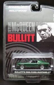 Bullitt-039-68-FORD-MUSTANG-GT-1968-Greenlight-1-64-Neuf-dans-sa-boite