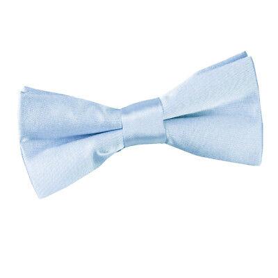 2019 Moda Dqt Raso Pianura Solido Baby Blu Comunione Pagina Ragazzi Pre-legato Bow Tie- Per Soddisfare La Convenienza Delle Persone