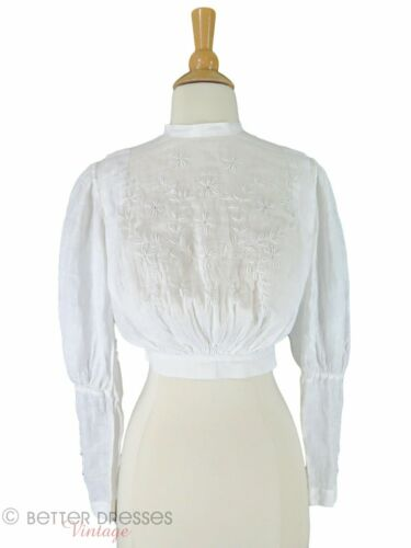 Antique Embroidered Blouse - xs, sm - image 1