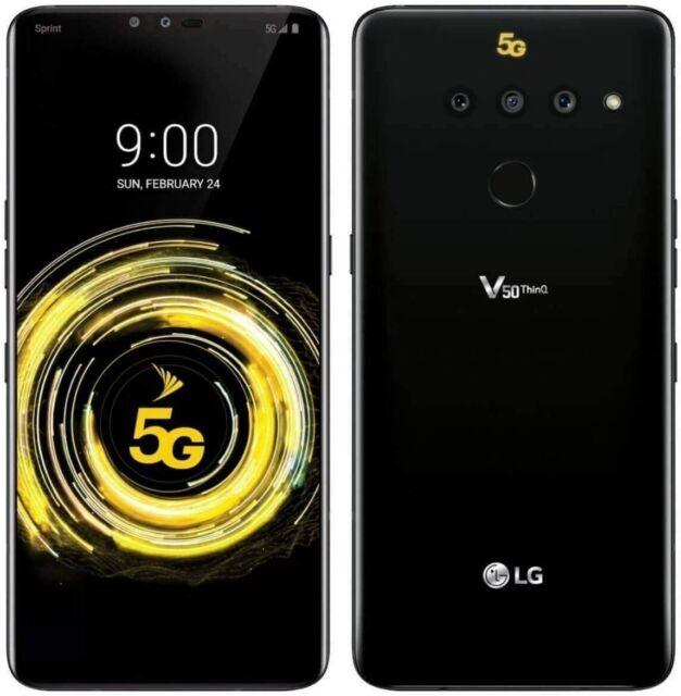 LG V50 ThinQ - 128GB-Negro Desbloqueado Nuevo Aurora