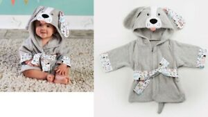 Puppy-Hooded-Robe-from-Baby-Aspen-fits-most-0-9-months-Gray