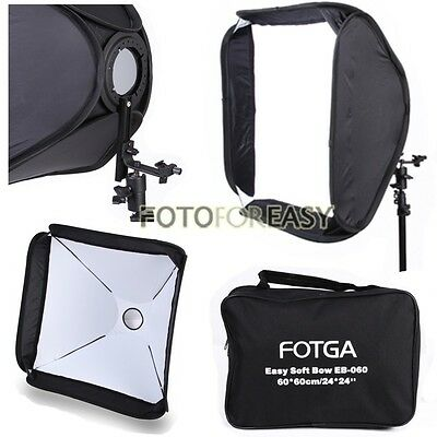"FOTGA Softbox For SpeedLight Flash Speedlite Soft box Kit 80x80cm 32""x32"" White"